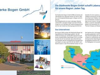 Neue Unternehmensbroschüre der Stadtwerke Bogen GmbH
